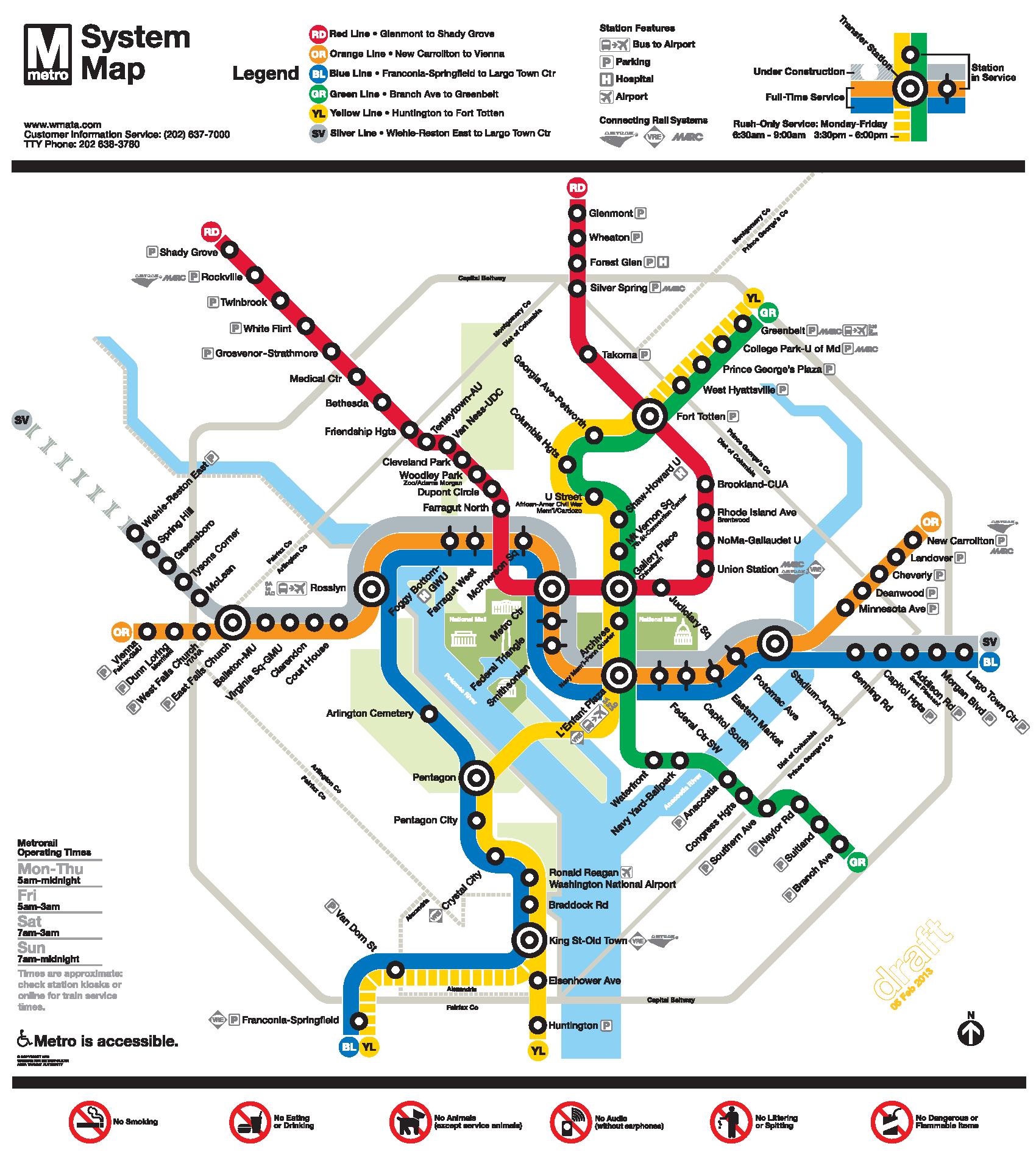 DC Metro Map   WheelchairTravel.org