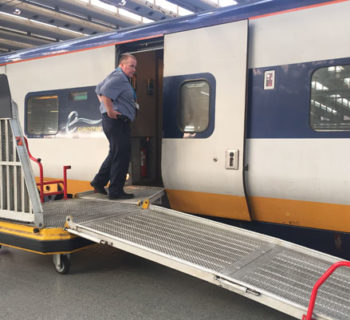 Eurostar Wheelchair Boarding Ramp - Photo by John Morris WheelchairTravel.org