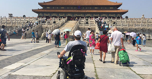 Wheelchair in The Forbidden City, Beijing, China