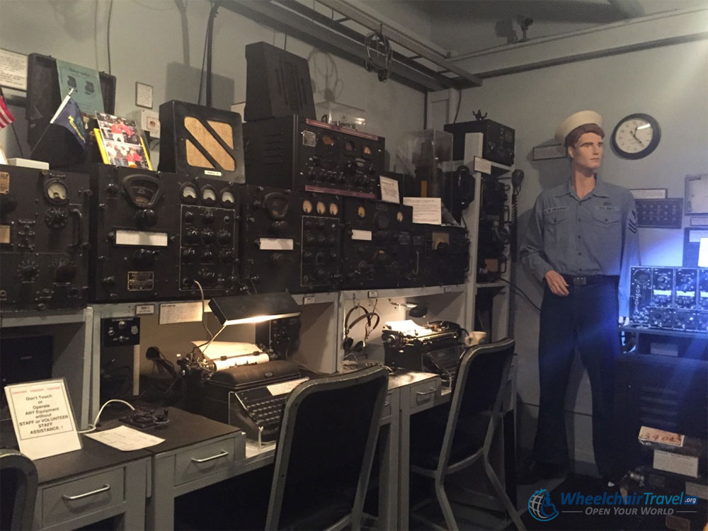 USS Indianapolis Radio Room Replica