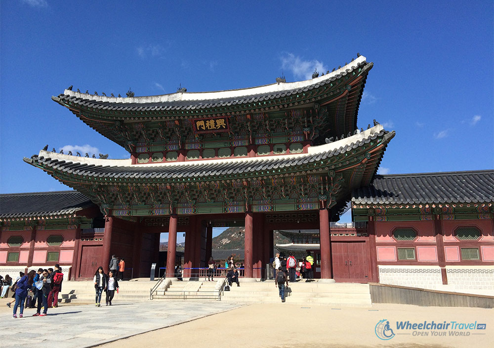 Gyeongbokgung Palace, Seoul Wheelchair Accessible Travel Guide, Heungnyemun Gate