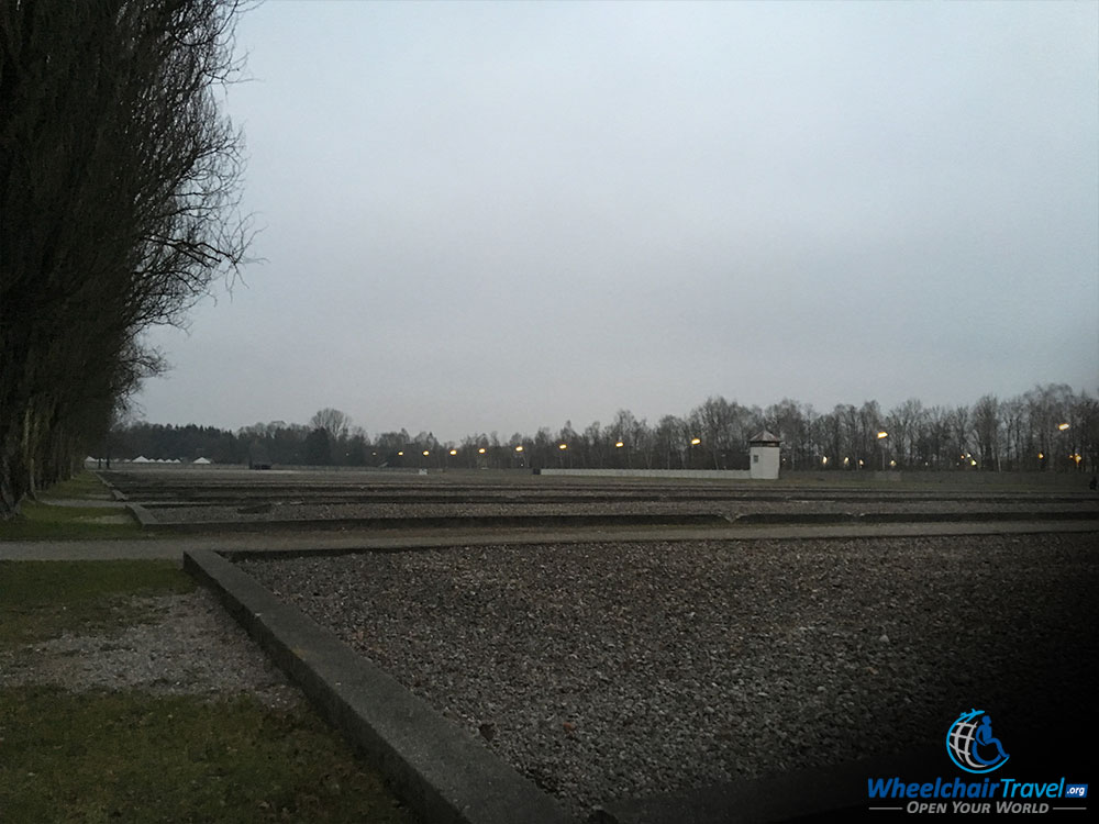 Outlines of Foundations of Former Dachau Barracks Buildings