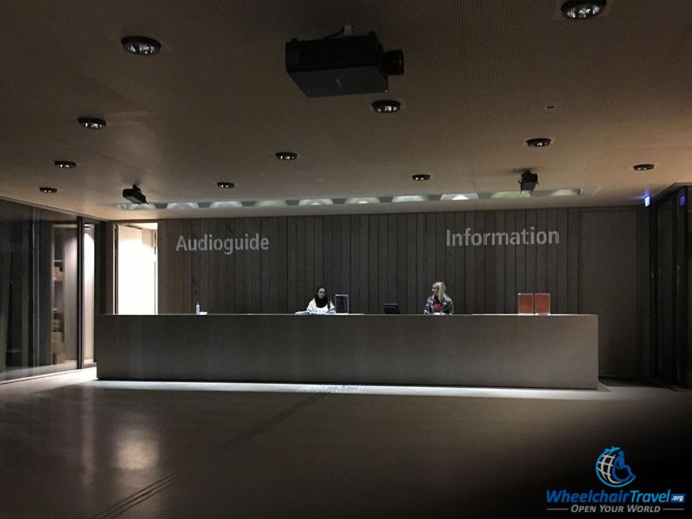 Dachau Concentration Camp Visitors Center, Info Desk & Audio Guides
