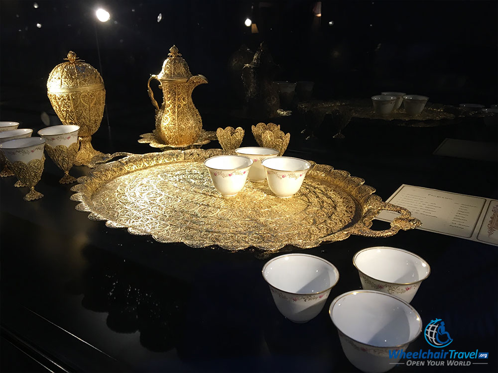 PHOTO DESCRIPTION: Cups and saucers used during tea service.