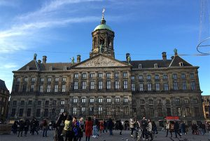 PHOTO DESCRIPTION: The Royal Palace of Amsterdam, as seen from Dam Square.