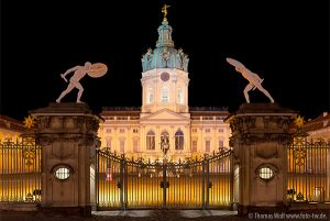 PHOTO DESCRIPTION: Charlottenburg Palace at night. © Thomas Wolf www.foto-tw.de.
