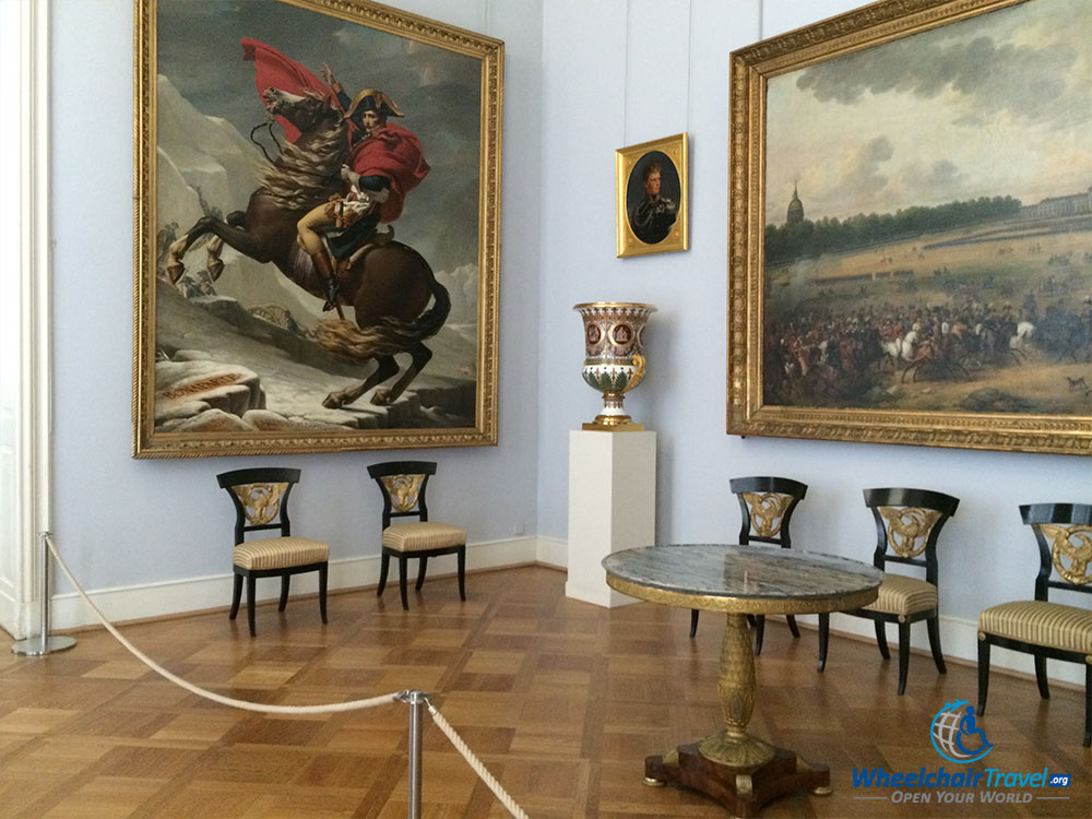 PHOTO DESCRIPTION: Painting of Napoleon in Charlottenburg Palace.