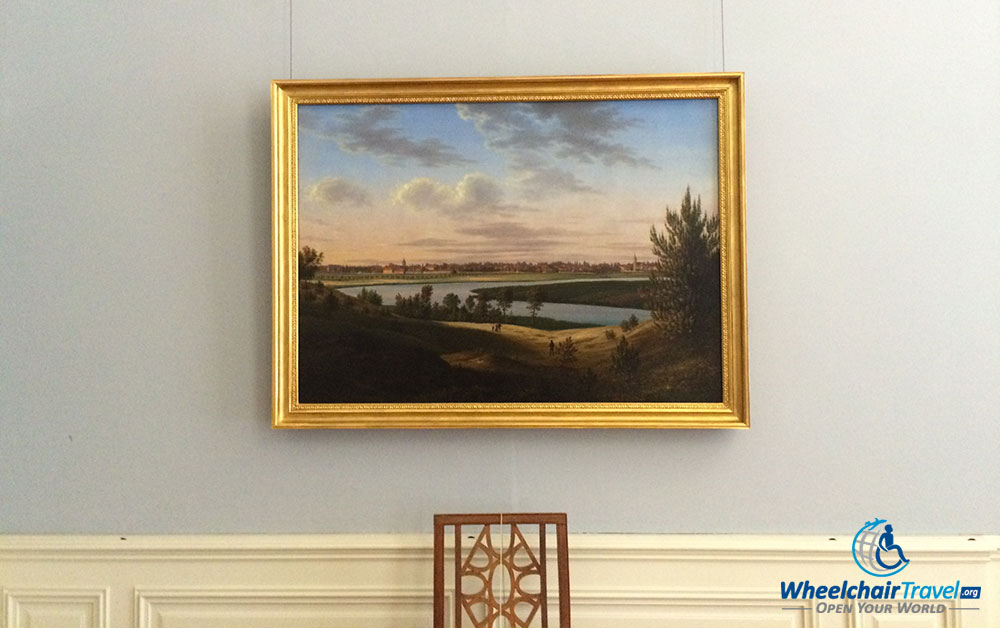 photo description: Painting of the palace and surrounding area by Wilhelm Barth.