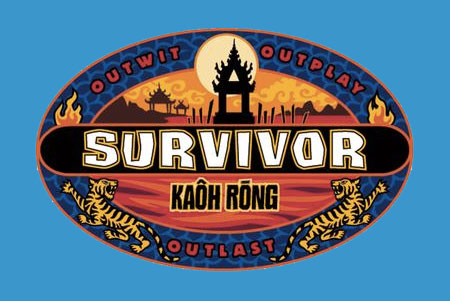 PHOTO DESCRIPTION: Survivor Kaoh Rong Logo on bright blue background.