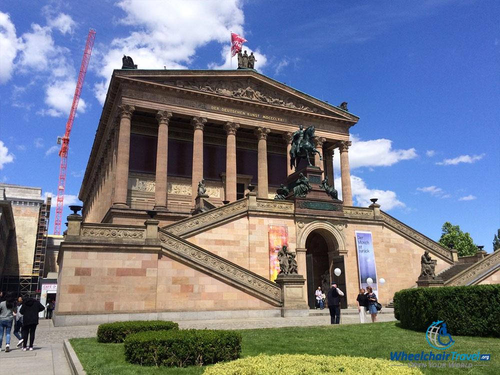 PHOTO DESCRIPTION: Berlin's Alte Nationalgalerie on Museum Island.