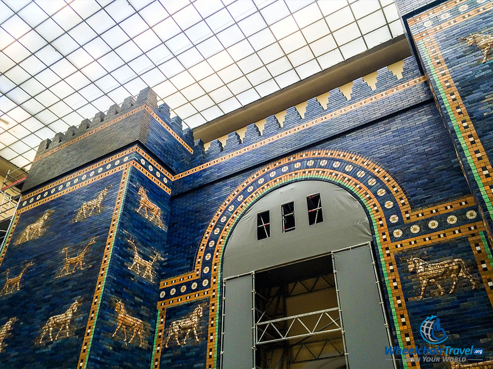 PHOTO DESCRIPTION: The Ishtar Gate reconstruction at the Pergamon Museum in Berlin, Germany.