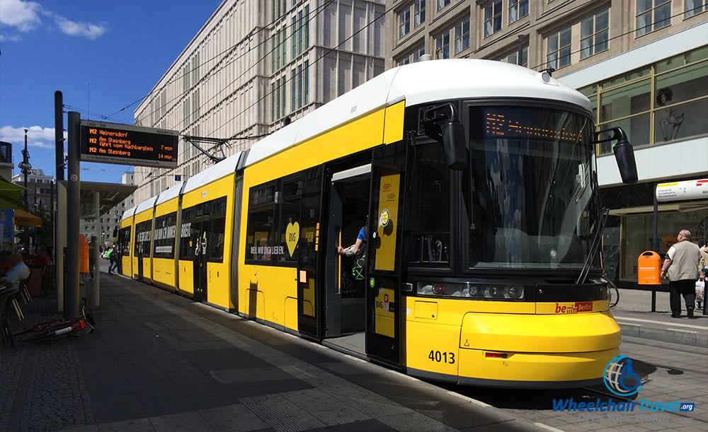 photo description berlin tram parked outside of alexanderplatz station. Black Bedroom Furniture Sets. Home Design Ideas
