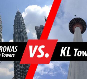 PHOTO DESCRIPTION: PETRONAS Twin Towers vs. Kuala Lumpur Tower.