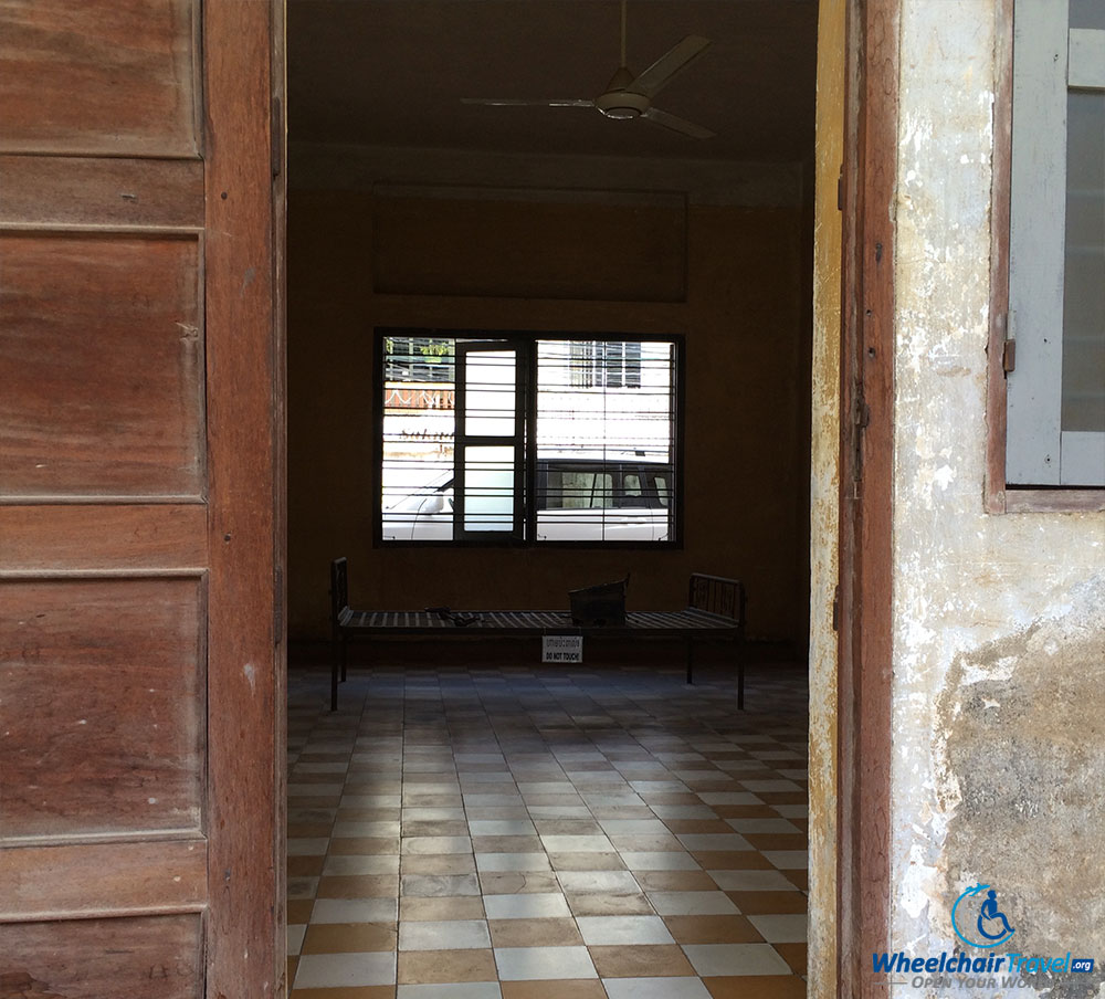 PHOTO DESCRIPTION: Restrain bed in an empty room at S-21 Tuol Sleng Genocide Museum in Phnom Penh, Cambodia.