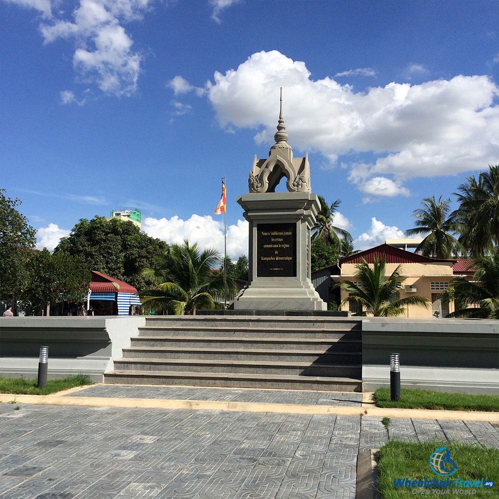 PHOTO DESCRIPTION: Monument to the S-21 victims.
