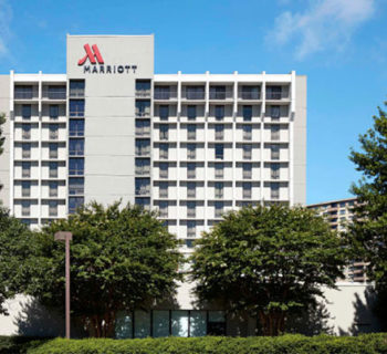 PHOTO DESCRIPTION: Exterior of the Bethesda Marriott Hotel.