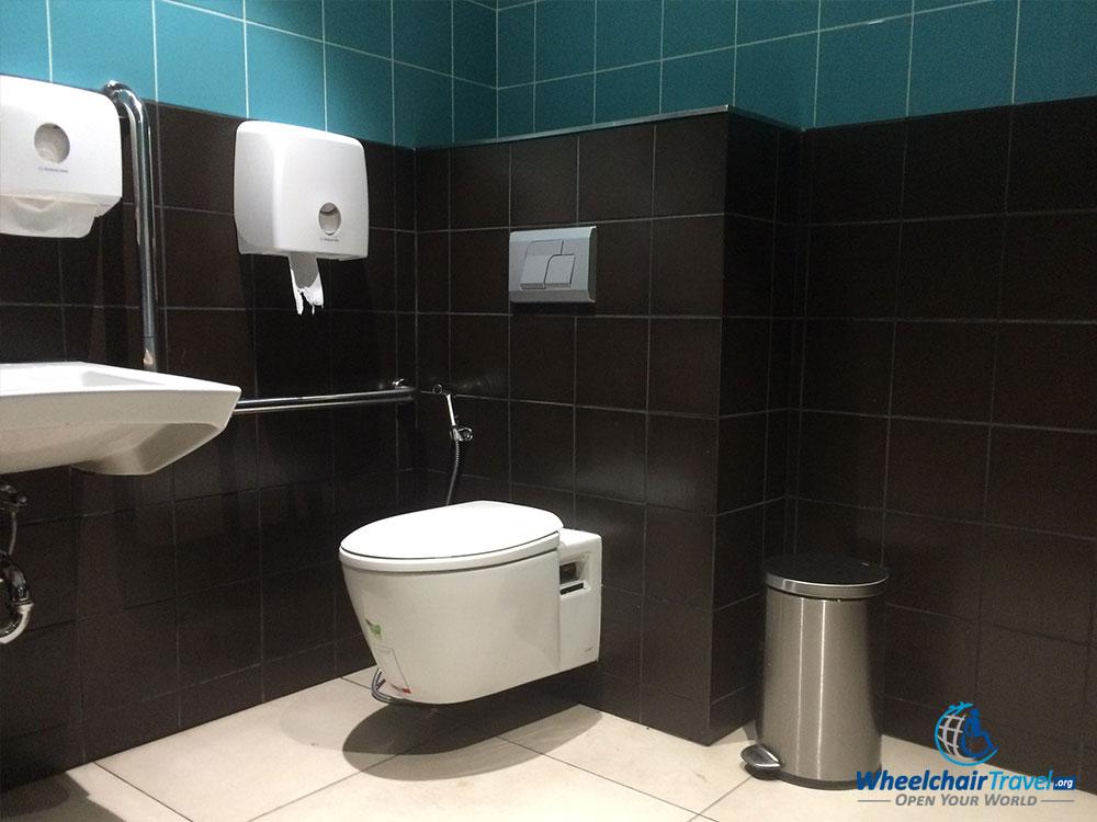 PHOTO: Wheelchair accessible bathroom at Phnom Penh airport.