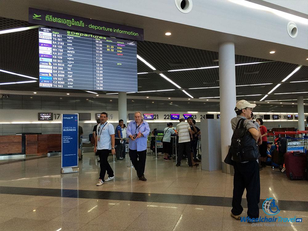 PHOTO: Phnom Penh Airport departures hall.