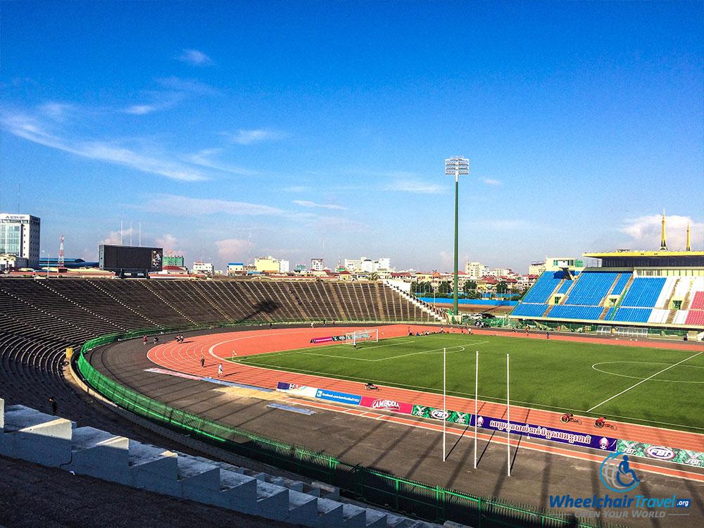 PHOTO: National Olympic Stadium in Phnom Penh, Cambodia.