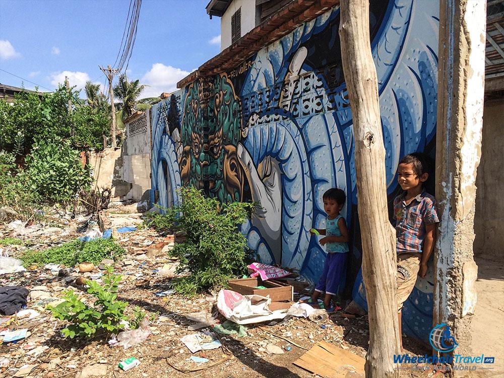 PHOTO: Street art in Phnom Penh, Cambodia.