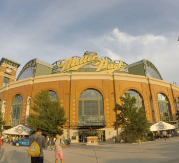 PHOTO: Milwaukee Brewers baseball, Miller Park stadium.