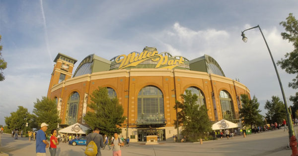 PHOTO: Milwaukee Brewers baseball, Miller Park stadium.