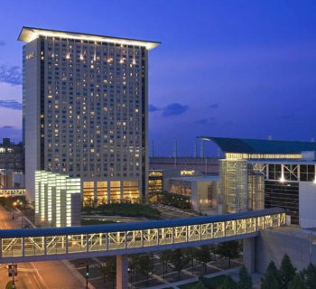 PHOTO: Exterior of the Hyatt Regency McCormick Place Hotel in Chicago.
