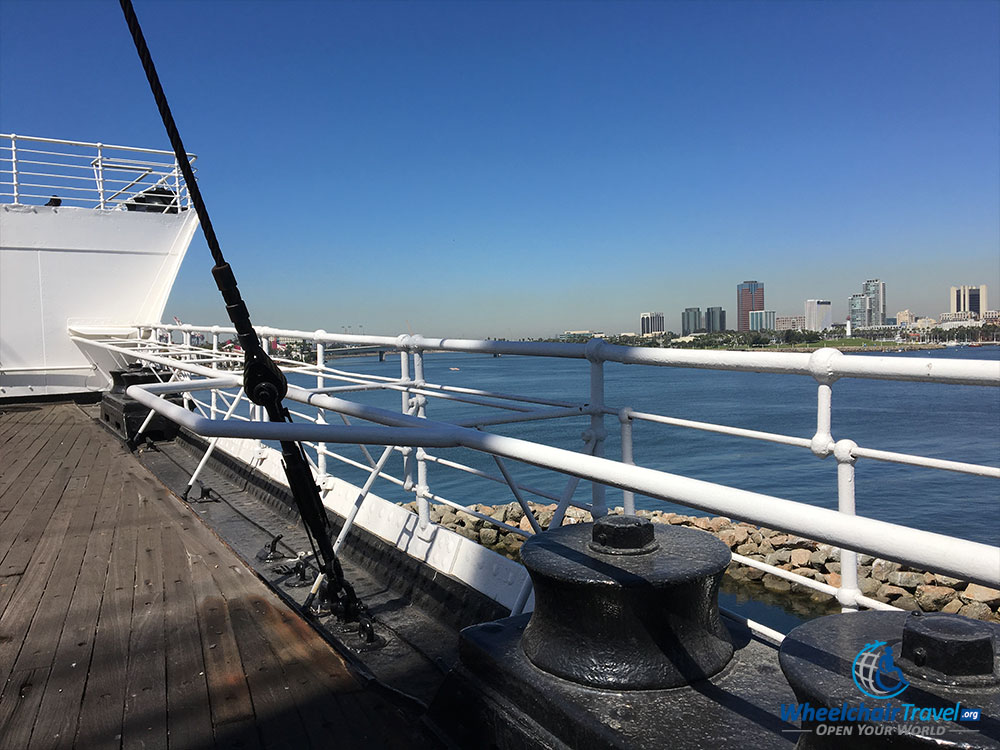 PHOTO: Well Deck on RMS Queen Mary.