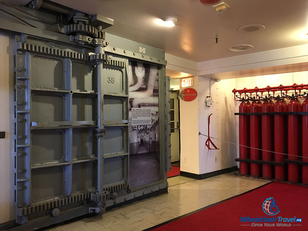 PHOTO: Fire station aboard the RMS Queen Mary.