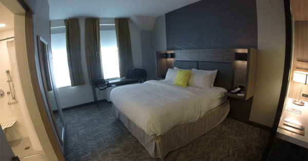 PHOTO: SpringHill Suites Milwaukee Downtown Wheelchair Accessible Hotel Room.