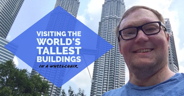 PHOTO: Selfie of John with the Petronas Twin Towers.