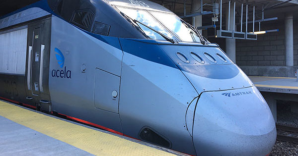 PHOTO: Amtrak Acela Train at Providence Station.
