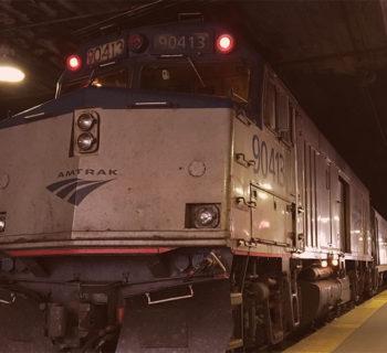 PHOTO: Amtrak Hiawatha train at Chicago Union Station.