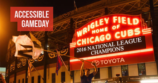 PHOTO: Chicago Cubs, exterior of Wrigley Field.