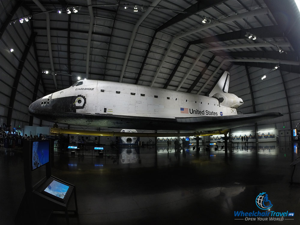 PHOTO: Space Shuttle Endeavour at California Science Center.