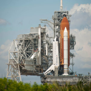 PHOTO: Space Shuttle Endeavour on Kennedy Space Center launchpad prior to STS-134.