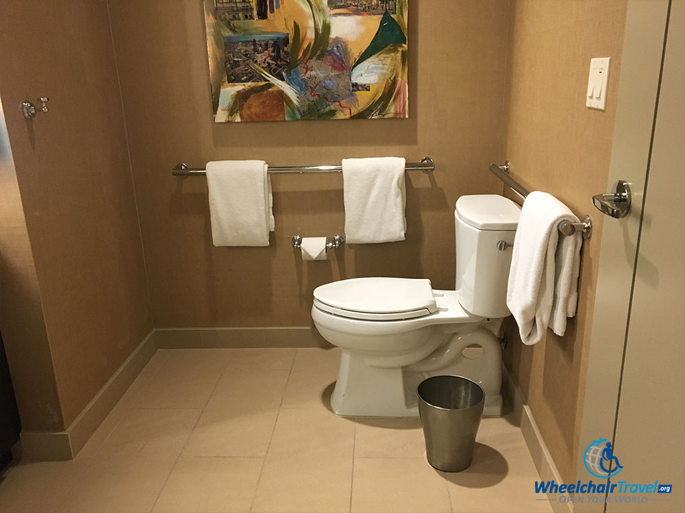 Wheelchair accessible toilet at Omni Dallas Hotel