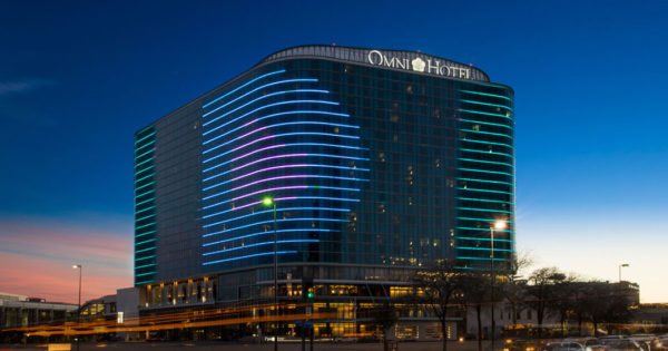 Exterior of the Omni Dallas Hotel