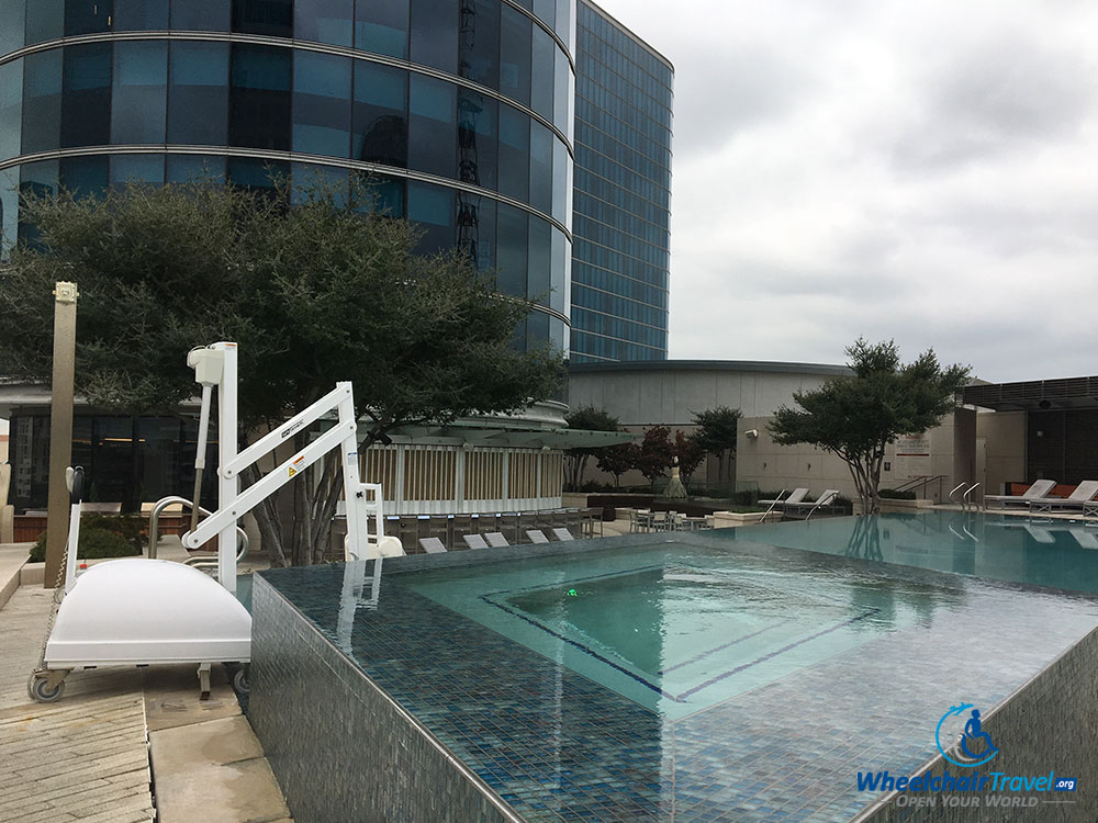 Swimming pool, hot tub and hoist at Omni Dallas Hotel