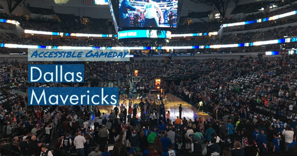 Dallas Mavericks at wheelchair accessible American Airlines Center