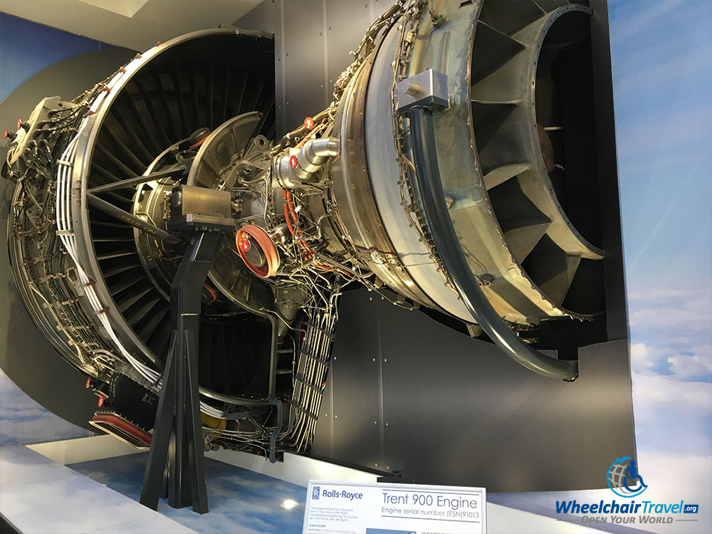 Rolls-Royce Trent 900 jet engine replica