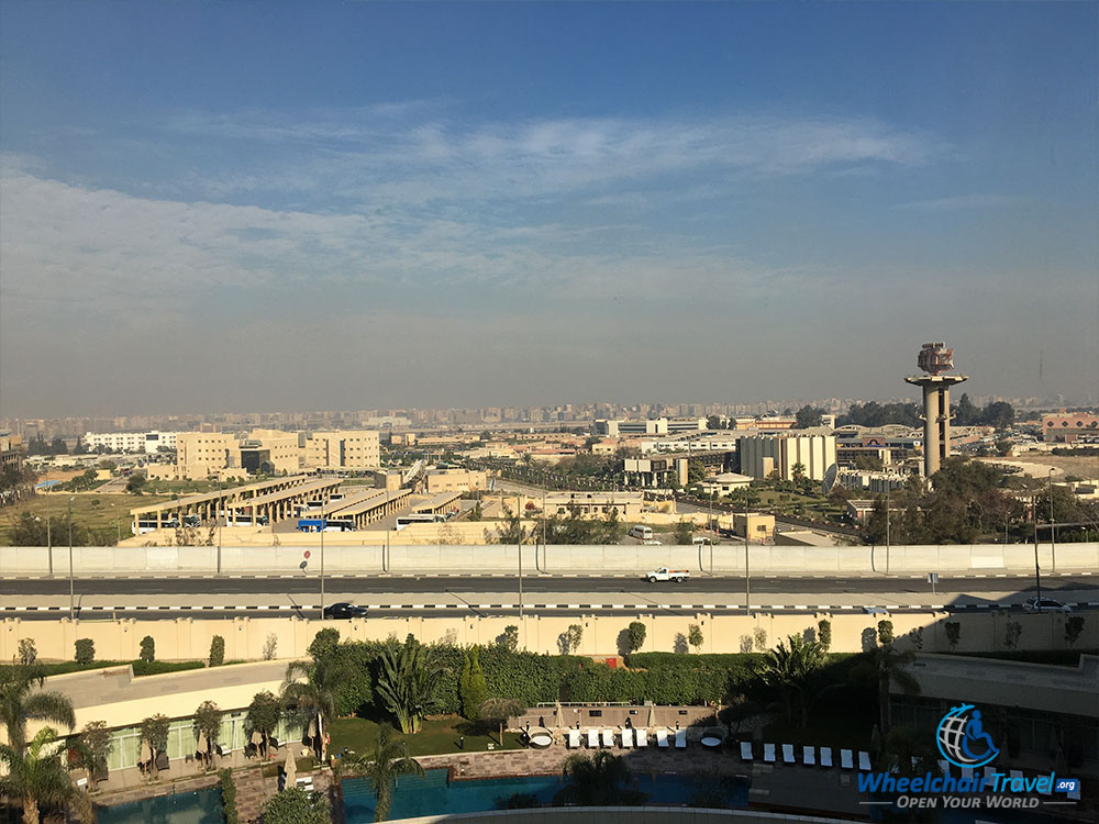 View from the Le Méridien Cairo Airport Hotel