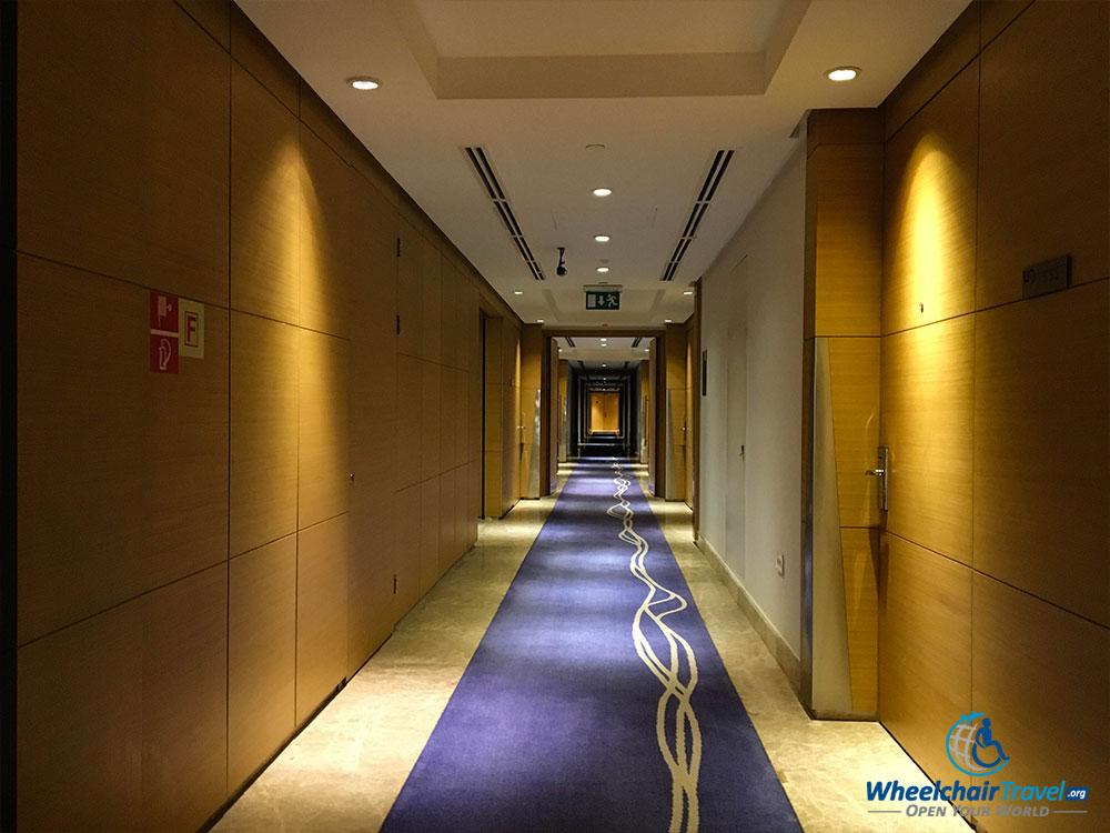 Interior hallway at Le Méridien Cairo Airport hotel