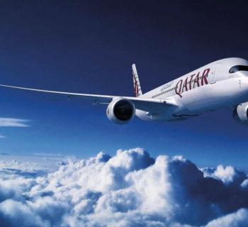 Qatar Airways A350 inflight