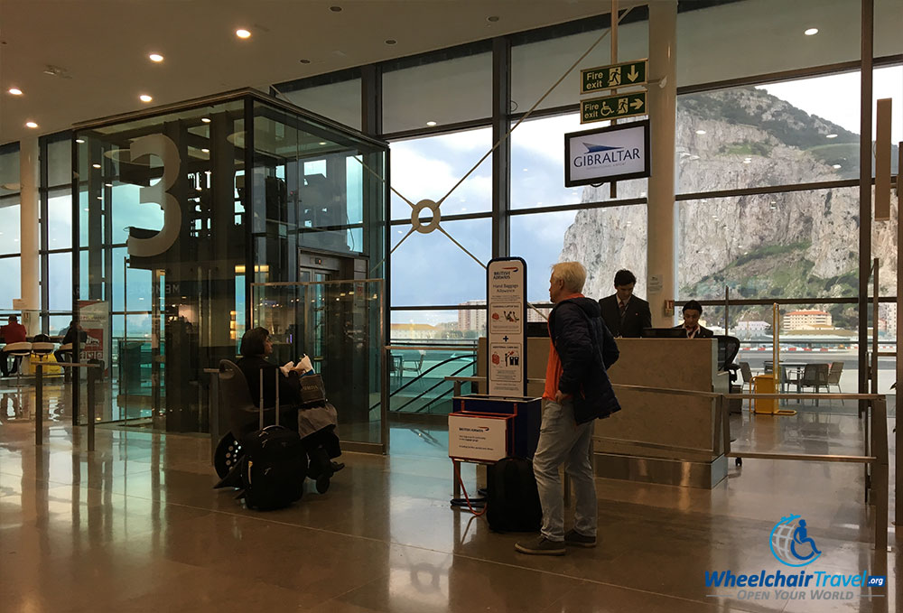 British Airways boarding gate at Gibraltar International Airport