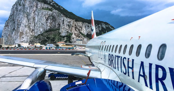 British Airways A320 aircraft at Gibraltar International Airport