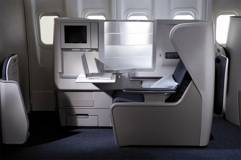 Lay flat seats in Club World business class
