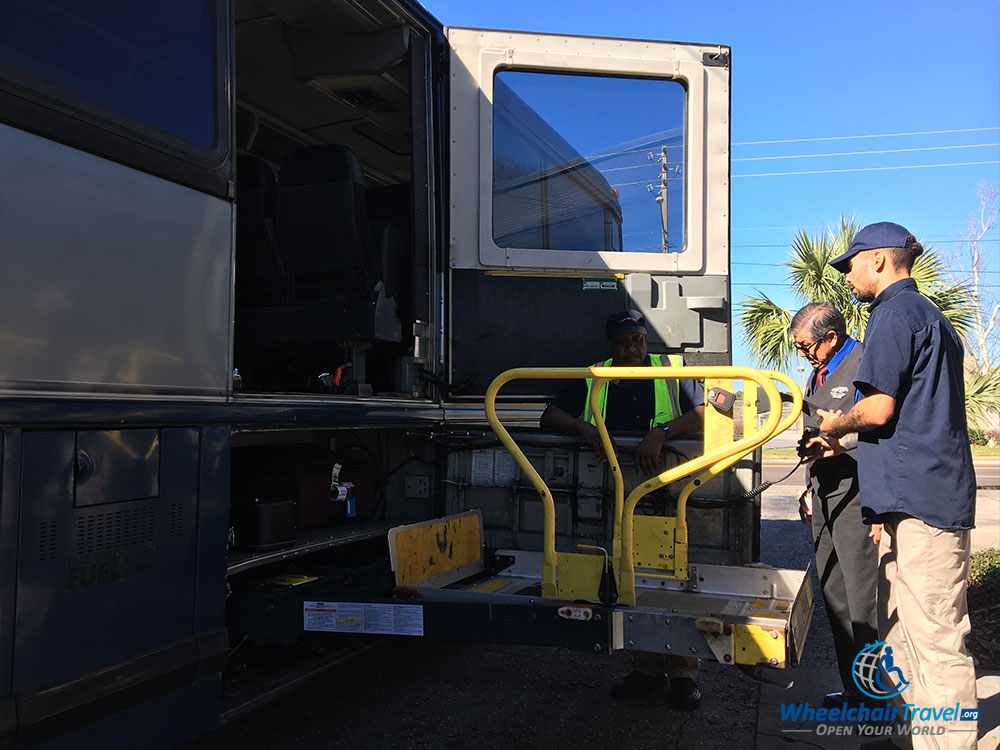 Review wheelchair accessible greyhound bus service Wheelchair lift motor