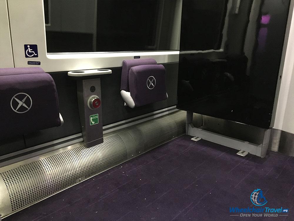 Wheelchair space on Heathrow Express train