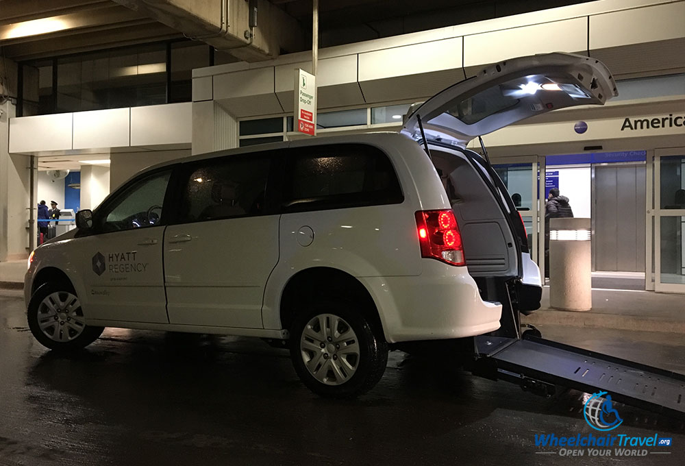 Hyatt Regency DFW Airport hotel shuttle van